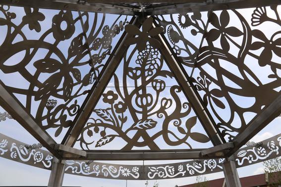 Roof, chandelier, nettle brackets