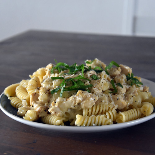 Mushroom and Chicken Pasta