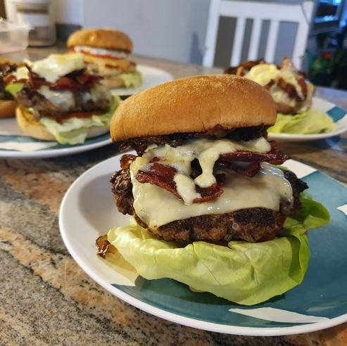"""The """"Bacon Brie-O"""" Burger"""