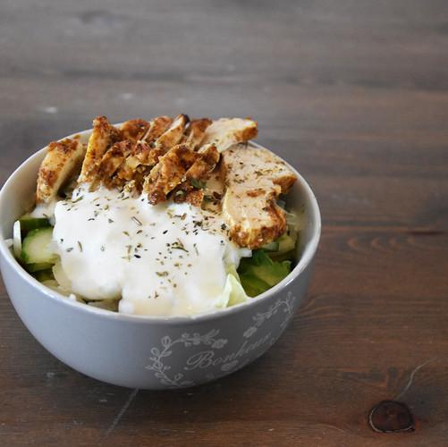 Shawarma inspired salad