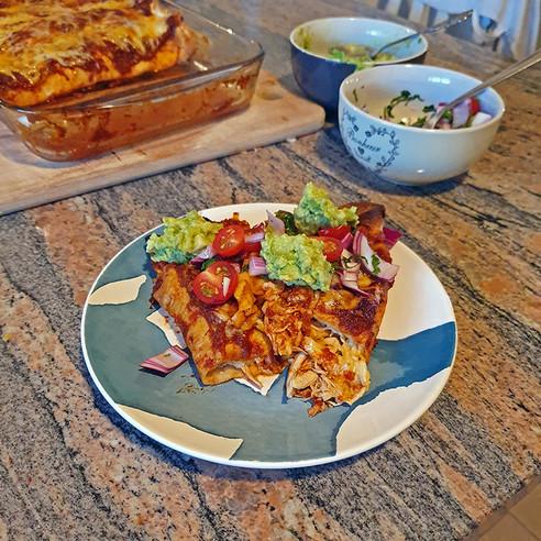 Chipotle and Chicken Enchiladas