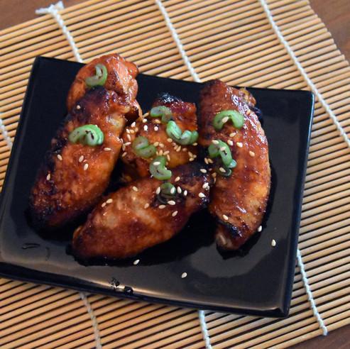 Gochujang glazed chicken wings