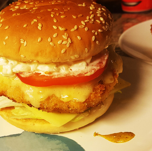 Chicken-Curry Burger