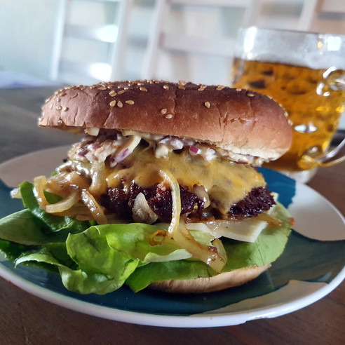 """Oklahoma style"" Cheeseburger"