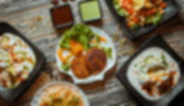 Chaat-&-papadum street food indian veget