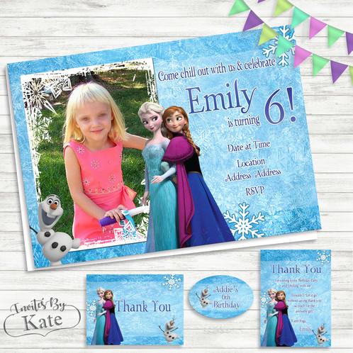 Frozen anna elsa and olaf birthday invitation filmwisefo