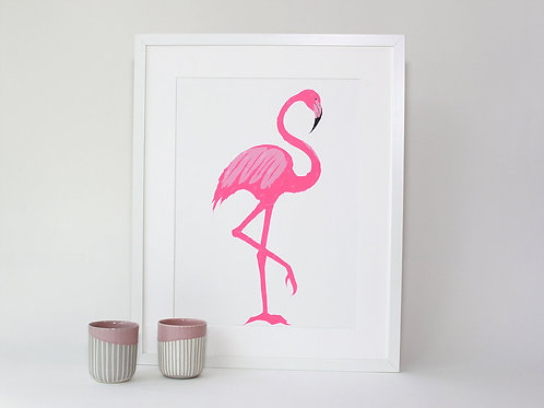 Flamingo Screen Print A3+