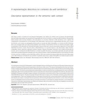 A representação descritiva no contexto da web semântica