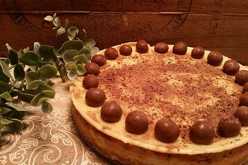 Baked White Choc Malteser Cheesecake