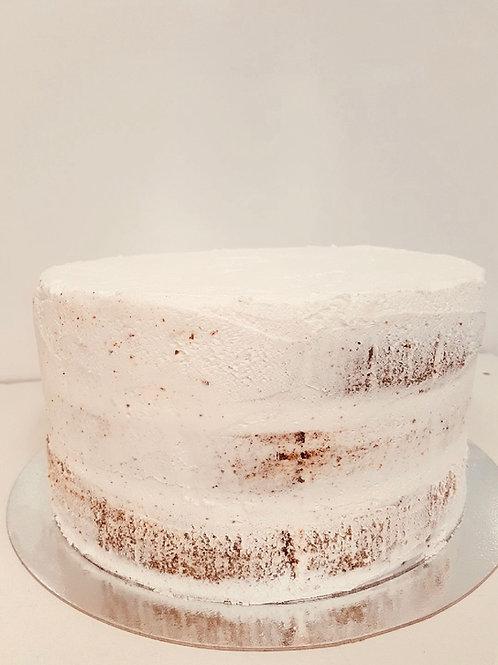 Plain Semi-Naked Buttercream Cake