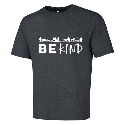 "Men's T-Shirt - ""Be Kind"" - Charcoal Heather Grey"