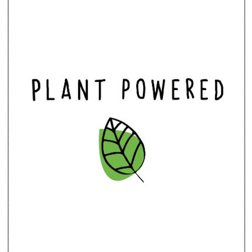 4x3 Sticker - Plant Powered