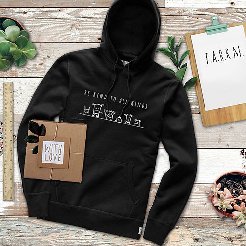 """Unisex Hoodie BLACK - """"Be Kind To All Kinds"""""""