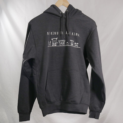 """Unisex Hoodie GREY - """"Be Kind To All Kinds"""""""