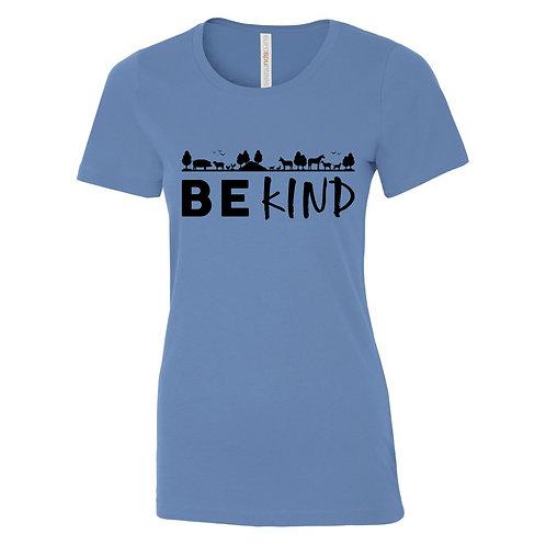 "Ladies T-Shirt ""Be Kind"" - Caroline Blue"