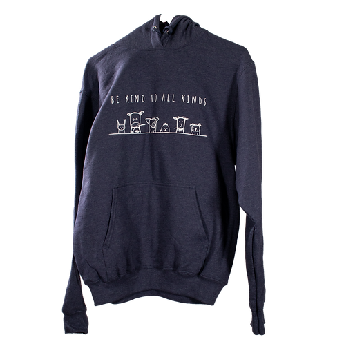 "Unisex Hoodie HEATHER NAVY - ""Be Kind To All Kinds"""