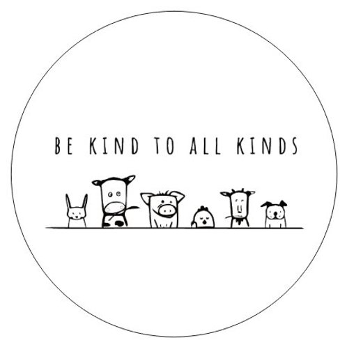3x3 Sticker - Be Kind To All Kinds