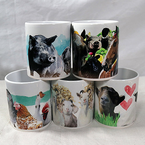 MUG SET  - All 5 New FARRM Mugs in one set