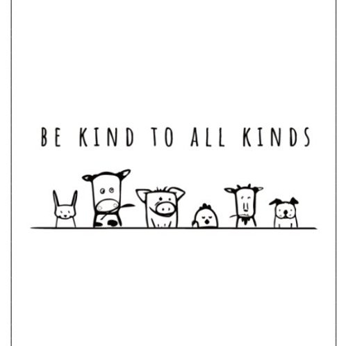 4x3 Sticker - Be Kind To All Kinds