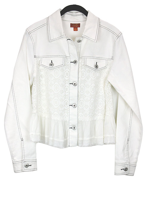 Scully White Denim Lace Jacket