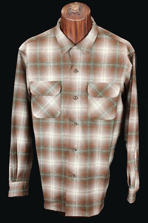 Pendleton Board Shirt Brown & Green #32302 Regular Fit