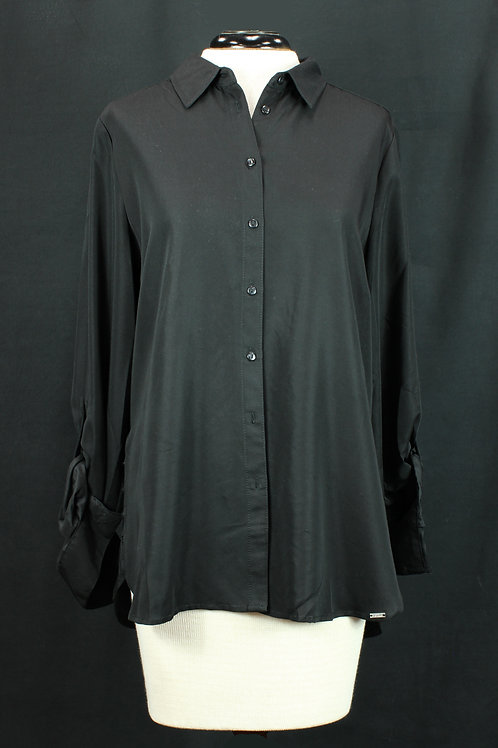 FDJ Black Button Blouse