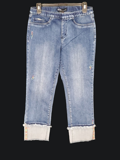 FDJ Faded Cuffed Capris Jeans