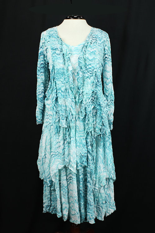 Carine Dress with Matching Jacket Teal