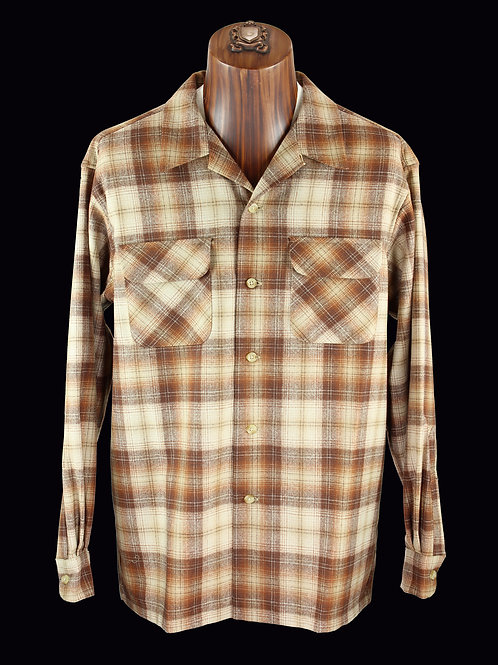 Pendleton Board Shirt Brown & Cream #32268