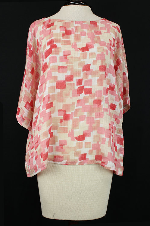 Charlie B Abstract Square Blouse