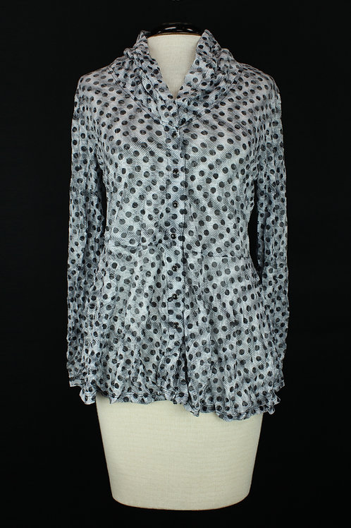 Carine Blouse with Black Dots