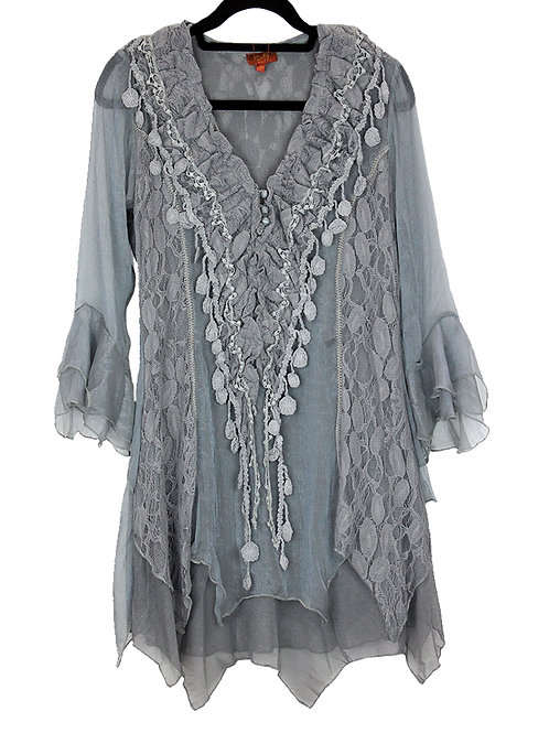 Scully Grey Lace Blouse