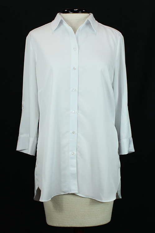 FDJ White Button Blouse