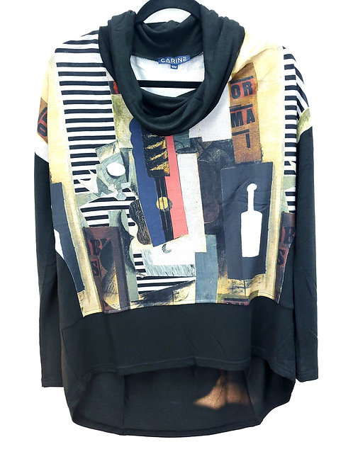 Carine Abstract Sweater