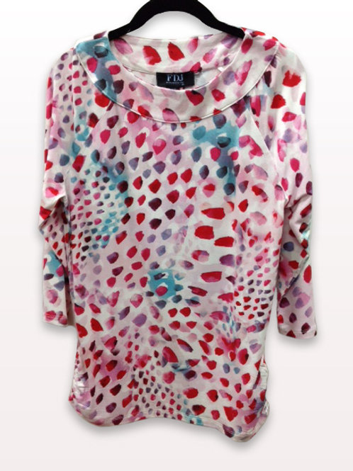 FDJ Paint Brush Print Top