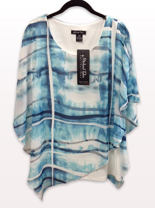 Michael Tyler Abstract Blouse