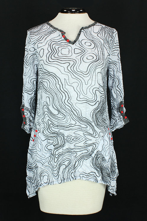 Carine Abstract Line Pattern Blouse