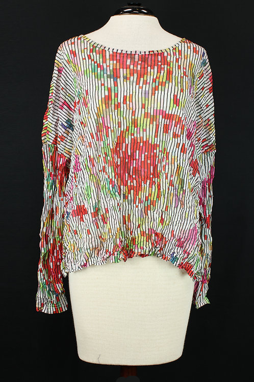 Charlie B Abstract Rose Blouse