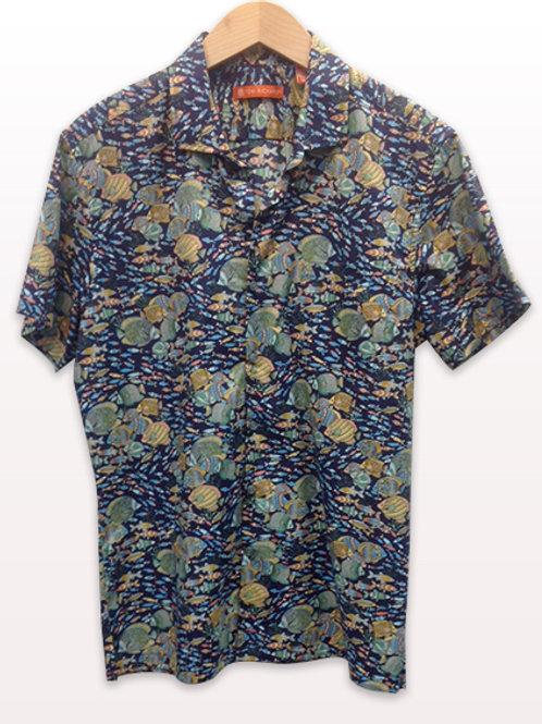 Tori Richards Navy Fish Shirt