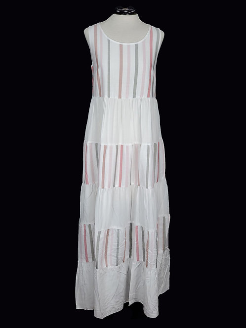 Charlie B Maxi Multi-striped Dress Rose Water, Cotton Blend.