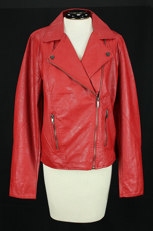 FDJ Red Leather Jacket
