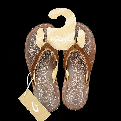Olukai Paniolo Leather Beach Sandals