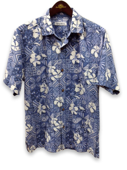 Tommy Bahama Blue With White Flowers