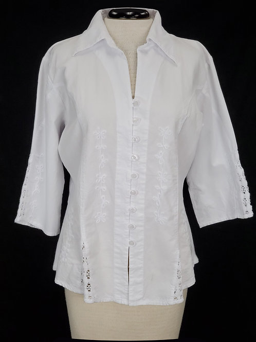 Scully White Blouse