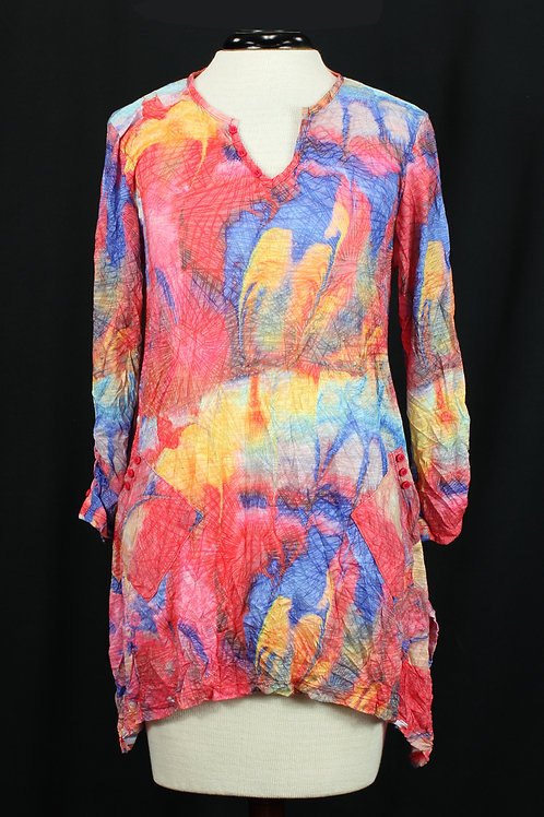 Carine Abstract Blouse