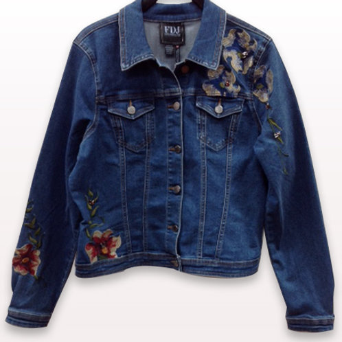 FDJ Embroidered Jean Jacket