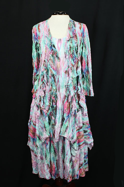 Carine Dress with Matching Jacket Multi Color