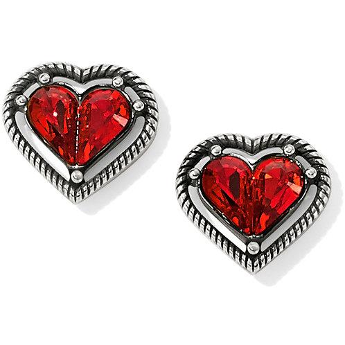 Brighton One Love Petite Heart Post Earrings