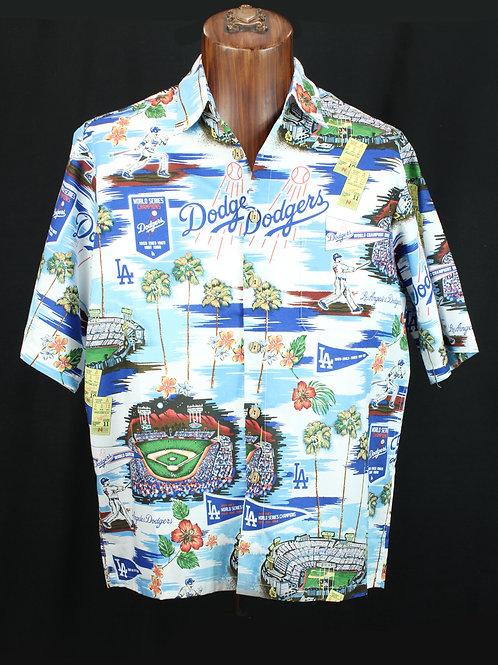 Reyn Spooner LA Dodgers Camp Shirt 100% cotton, limited supply