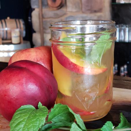 Nectarine Whiskey Smash